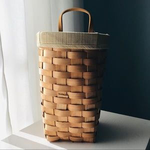 Lined basket with plastic liner